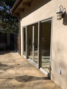 Driftwood Beige Retractables Screen Doors in Malibu