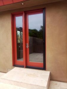 Bonze pocket screen doors